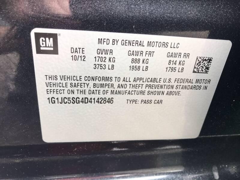 2013 Chevrolet Sonic LT Auto 4dr Sedan - Westampton NJ