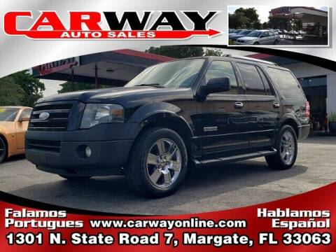 2008 Ford Expedition for sale at CARWAY Auto Sales in Margate FL