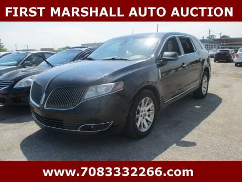 2013 Lincoln MKT Town Car for sale at First Marshall Auto Auction in Harvey IL