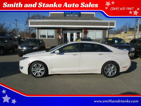 2013 Lincoln MKZ for sale at Smith and Stanke Auto Sales in Sturgis MI