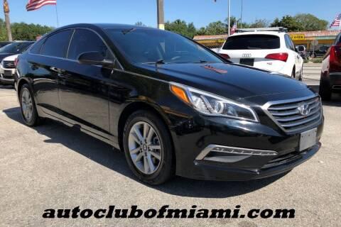 2015 Hyundai Sonata for sale at AUTO CLUB OF MIAMI in Miami FL
