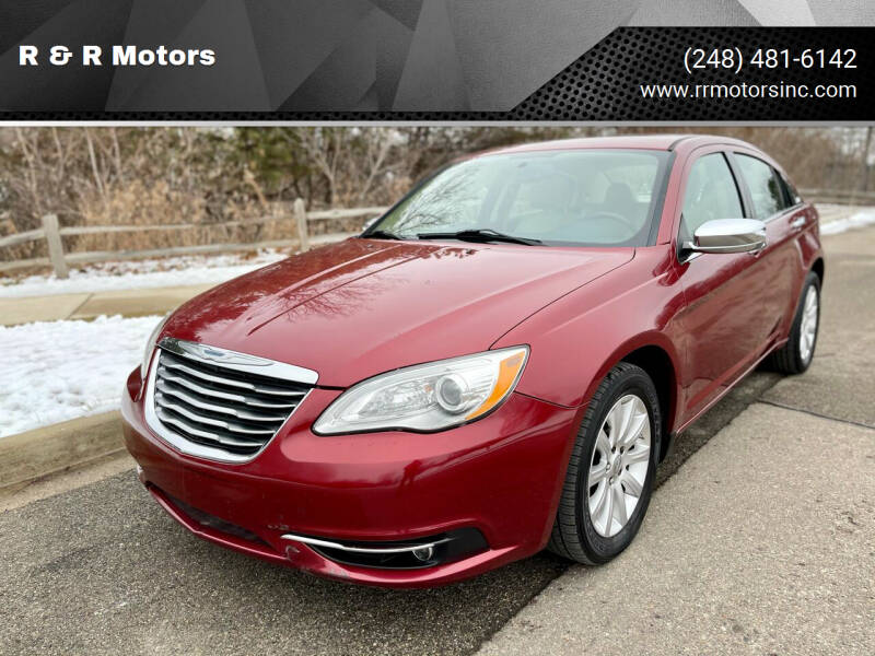 2014 Chrysler 200 for sale at R & R Motors in Waterford MI