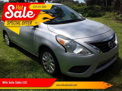 2016 Nissan Versa for sale at Mile Auto Sales LLC in Holiday FL