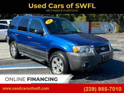2007 Ford Escape for sale at Used Cars of SWFL in Fort Myers FL