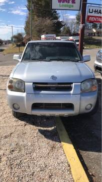 2001 Nissan Frontier for sale at Guarantee Auto Galax in Galax VA