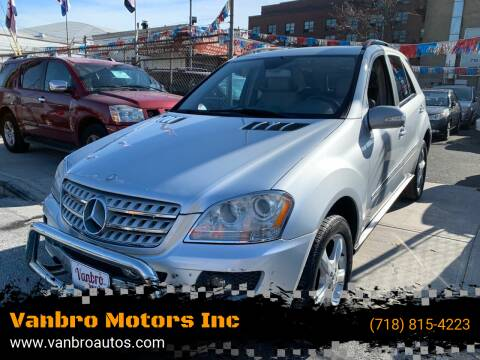 2008 Mercedes-Benz M-Class for sale at Vanbro Motors Inc in Staten Island NY