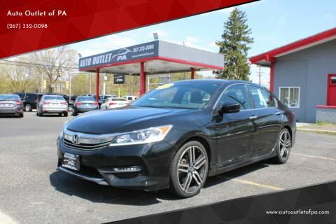 2017 Honda Accord for sale at Deals N Wheels 306 in Burlington NJ