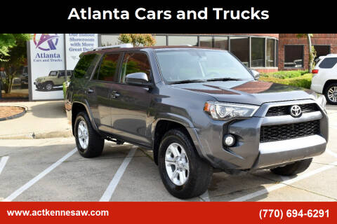 2016 Toyota 4Runner for sale at Atlanta Cars and Trucks in Kennesaw GA