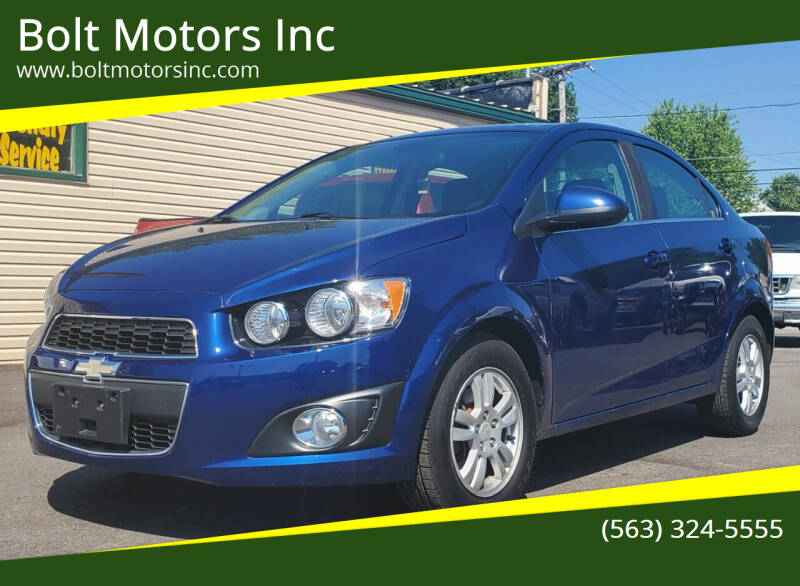 2013 Chevrolet Sonic for sale at Bolt Motors Inc in Davenport IA