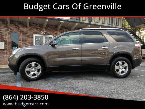 2009 GMC Acadia for sale at Budget Cars Of Greenville in Greenville SC