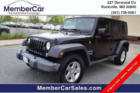 2016 Jeep Wrangler Unlimited for sale at MemberCar in Rockville MD