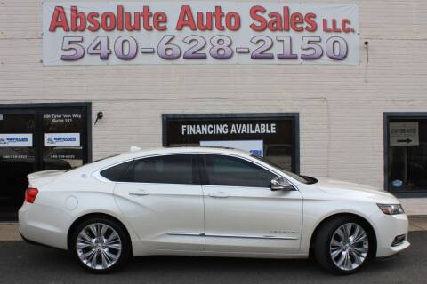 2014 Chevrolet Impala for sale at Absolute Auto Sales in Fredericksburg VA
