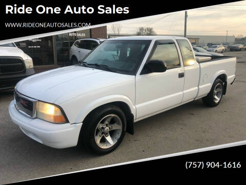 2003 GMC Sonoma for sale at Ride One Auto Sales in Norfolk VA