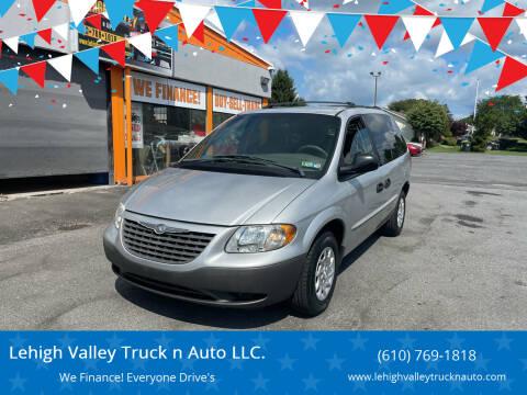 2001 Chrysler Voyager for sale at Lehigh Valley Truck n Auto LLC. in Schnecksville PA