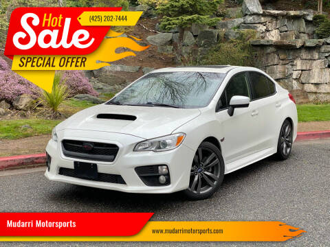 2016 Subaru WRX for sale at Mudarri Motorsports in Kirkland WA