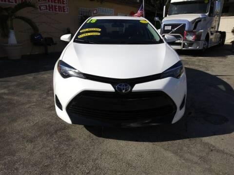 2018 Toyota Corolla for sale at VALDO AUTO SALES in Miami FL