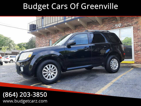 2010 Mercury Mariner for sale at Budget Cars Of Greenville in Greenville SC