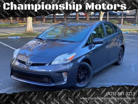 2012 Toyota Prius for sale at Mudarri Motorsports - Championship Motors in Redmond WA