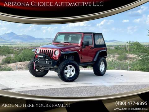 2012 Jeep Wrangler for sale at Arizona Choice Automotive LLC in Mesa AZ