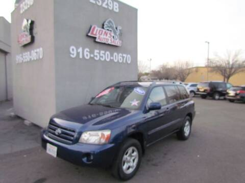 2005 Toyota Highlander for sale at LIONS AUTO SALES in Sacramento CA