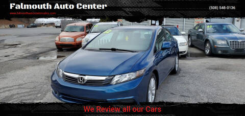 2012 Honda Civic for sale at Falmouth Auto Center in East Falmouth MA
