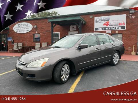 2007 Honda Accord for sale at Cars4Less GA in Alpharetta GA