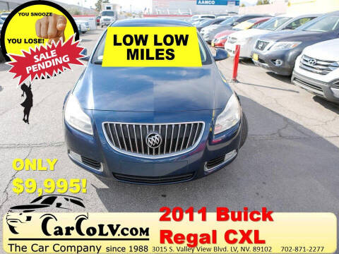 2011 Buick Regal for sale at The Car Company in Las Vegas NV
