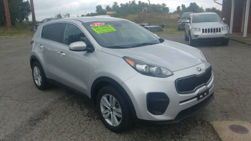 2017 Kia Sportage for sale at AutoBoss PRE-OWNED SALES in Saint Clairsville OH