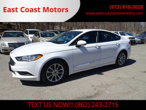 2017 Ford Fusion for sale at East Coast Motors in Lake Hopatcong NJ