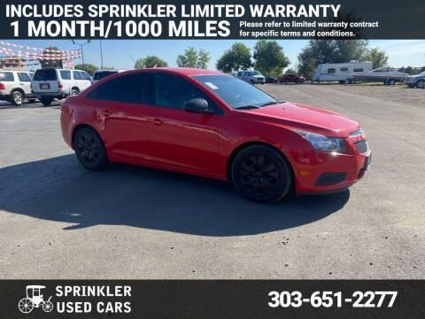 2014 Chevrolet Cruze for sale at Sprinkler Used Cars in Longmont CO