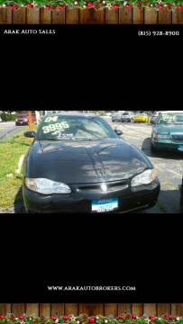2004 Chevrolet Monte Carlo for sale at Arak Auto Group - Arak Auto sales and service in Kankakee IL