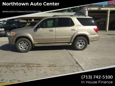 2005 Toyota Sequoia for sale at Northtown Auto Center in Houston TX