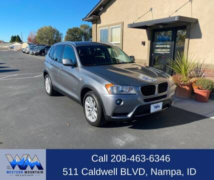 2013 BMW X3 for sale at Western Mountain Bus & Auto Sales in Nampa ID
