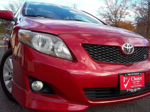 2010 Toyota Corolla for sale at 1st Choice Auto Sales in Fairfax VA