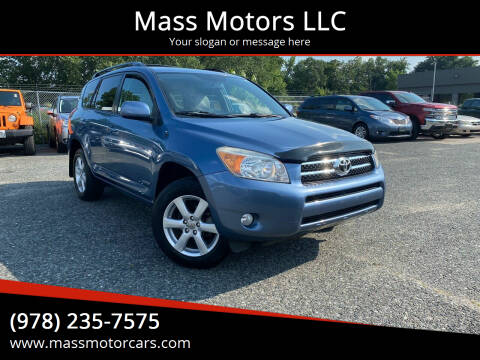 2008 Toyota RAV4 for sale at Mass Motors LLC in Worcester MA