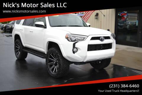 2019 Toyota 4Runner for sale at Nick's Motor Sales LLC in Kalkaska MI