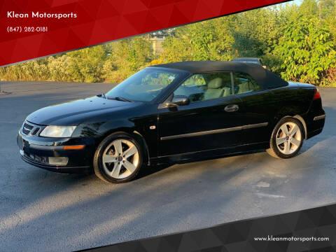 2005 Saab 9-3 for sale at Klean Motorsports in Skokie IL