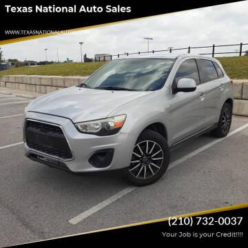 2014 Mitsubishi Outlander Sport for sale at Texas National Auto Sales in San Antonio TX