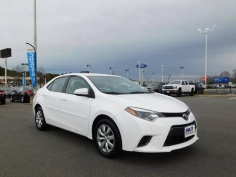 2016 Toyota Corolla for sale at Radley Cadillac in Fredericksburg VA