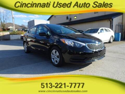 2016 Kia Forte for sale at Cincinnati Used Auto Sales in Cincinnati OH