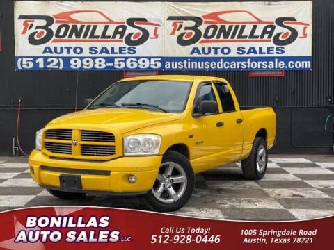 2008 Dodge Ram Pickup 1500 for sale at Bonillas Auto Sales in Austin TX