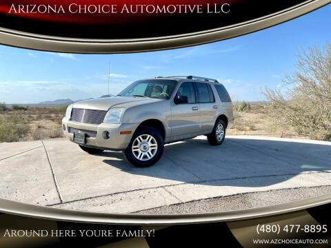 2005 Mercury Mountaineer for sale at Arizona Choice Automotive LLC in Mesa AZ