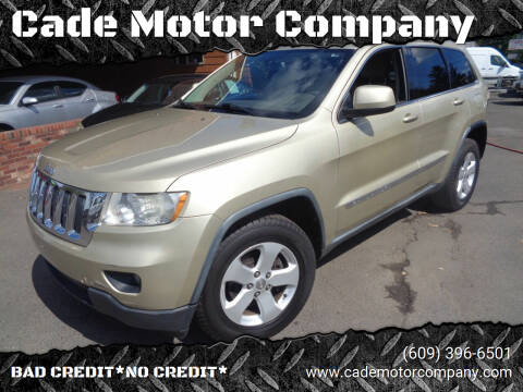 2011 Jeep Grand Cherokee for sale at Cade Motor Company in Lawrence Township NJ