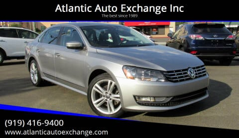2013 Volkswagen Passat for sale at Atlantic Auto Exchange Inc in Durham NC
