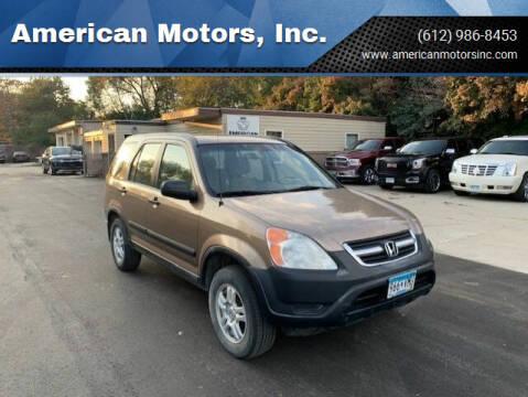 2003 Honda CR-V for sale at American Motors, Inc. in Farmington MN