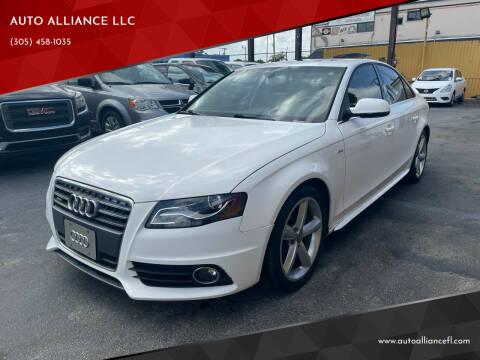 2012 Audi A4 for sale at AUTO ALLIANCE LLC in Miami FL