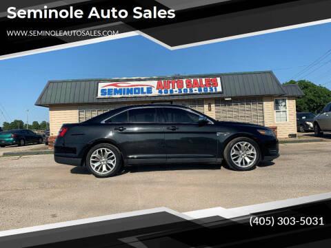 2014 Ford Taurus for sale at Seminole Auto Sales in Seminole OK