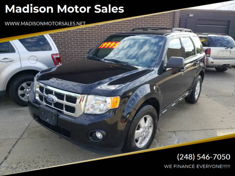 2012 Ford Escape for sale at Madison Motor Sales in Madison Heights MI