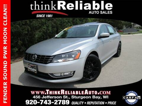 2015 Volkswagen Passat for sale at RELIABLE AUTOMOBILE SALES, INC in Sturgeon Bay WI