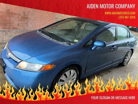 2008 Honda Civic for sale at Aiden Motor Company in Portsmouth VA